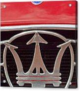 1954 Maserati A6 Gcs Emblem Acrylic Print
