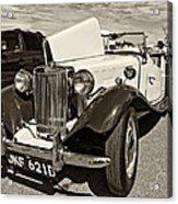 1954 Mg Td Sepia Acrylic Print
