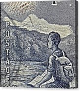 1954 Mount Aspiring New Zealand Stamp Acrylic Print