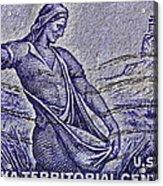 1954 Nebraska Territorial Stamp Acrylic Print