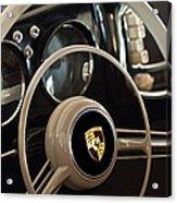 1954 Porsche 356 Bent-window Coupe Steering Wheel Emblem Acrylic Print