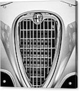 1955 Alfa Romeo 1900 Css Ghia Aigle Cabriolet Grille Emblem -0564bw Acrylic Print