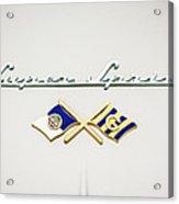 1955 Alfa Romeo 1900 Css Ghia Aigle Cabriolet Grille Emblem - Super Sprint Emblem -0604c Acrylic Print