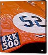1955 Aston Martin Db3s Sports Racing Car Hood 2 Acrylic Print