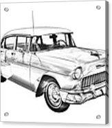 1955 Chevrolet Bel Air Illustration Acrylic Print