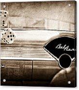 1955 Chevrolet Belair Dashboard Emblem Acrylic Print