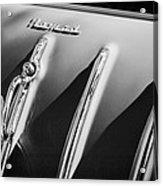 1955 Chevrolet Belair Nomad Hood Ornament -559bw Acrylic Print