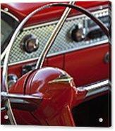 1955 Chevrolet Belair Nomad Steering Wheel Acrylic Print