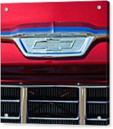 1955 Chevrolet Pickup Truck Grille Emblem Acrylic Print by Jill Reger