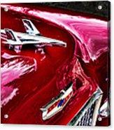 1955 Chevy Bel Air Hood Ornament Acrylic Print