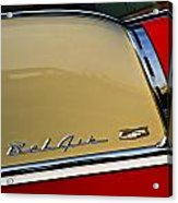 1955 Chevy Bel Air Side Panel Acrylic Print