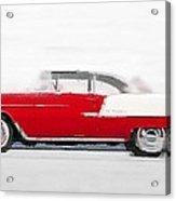 1955 Chevy Bel Air Watercolor Acrylic Print