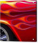1955 Chevy Pickup With Flames Acrylic Print