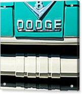 1955 Dodge C-3-b8 Pickup Truck Grille Emblem Acrylic Print by Jill Reger