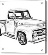 1955 F100 Ford Pickup Truck Illustration Acrylic Print