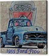 1955 Ford F100 Illustration 2 Acrylic Print