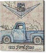 1955 Ford F100 Illustration Acrylic Print