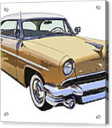 1955 Lincoln Capri Fine Art Illustration  Acrylic Print