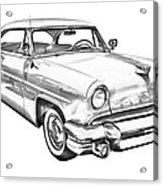 1955 Lincoln Capri Luxury Car Illustration Acrylic Print
