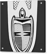 1955 Lincoln Indianapolis Boano Coupe  Emblem -0283bw Acrylic Print