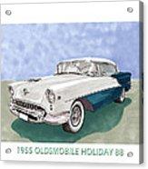 1955 Oldsmobile Holiday 88 Acrylic Print