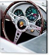 1955 Porsche Spyder Replica Steering Wheel Emblem Acrylic Print
