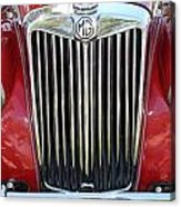 1955 Red Mg Grille Acrylic Print