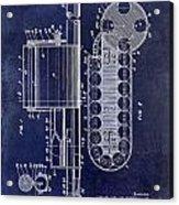1955 Rocket Launcher Patent Drawing Blue Acrylic Print