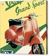 1955 - Vespa Grand Sport Motor Scooter Advertisement - Color Acrylic Print