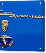 1956 Alfa Romeo Sprint Veloce Coupe Emblem Acrylic Print