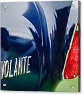 1956 Aston Martin Short Chassis Volante Taillight Emblem Acrylic Print