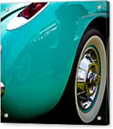 1956 Baby Blue Chevy Corvette Acrylic Print