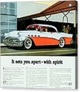 1956 - Buick Roadmaster Convertible - Advertisement - Color Acrylic Print