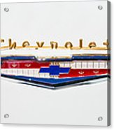 1956 Chevrolet 210 Emblem Acrylic Print