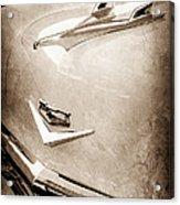 1956 Chevrolet Hood Ornament - Emblem Acrylic Print
