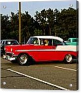 1956 Chevy Bel Air Red And White Acrylic Print