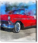 1956 Chevy Car Photo Art 01 Acrylic Print