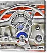 1956 Chevy Corvette Dash Wowc Acrylic Print