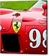 1956 Ferrari 410 Sport Scaglietti Spyder Acrylic Print