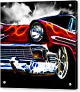 1956 Flamin Chevrolet Acrylic Print by Phil 'motography' Clark