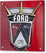 1956 Ford Fairlane Emblem Acrylic Print