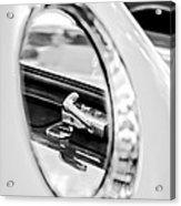 1956 Ford Thunderbird Latch -417bw Acrylic Print