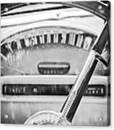1956 Ford Thunderbird Steering Wheel -260bw Acrylic Print