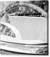 1956 Ford Thunderbird Steering Wheel -402bw Acrylic Print
