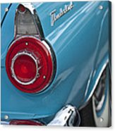 1956 Ford Thunderbird Taillight And Emblem Acrylic Print