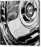 1956 Ford Thunderbird Wheel Emblem -232bw Acrylic Print