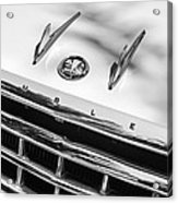 1956 Hudson Rambler Station Wagon Grille Emblem - Hood Ornament Acrylic Print by Jill Reger