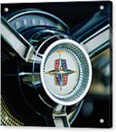 1956 Lincoln Continental Mark II Hess And Eisenhardt Convertible Steering Wheel Emblem Acrylic Print