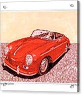 1956 Porsche 356 Cabriolet Acrylic Print