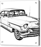 1956 Sedan Deville Cadillac Car Illustration Acrylic Print